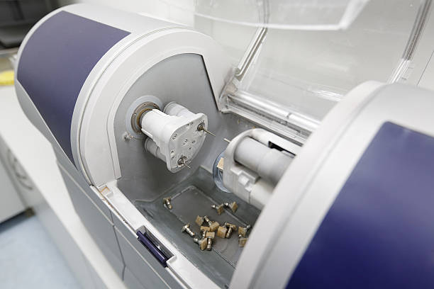 cad/cam dental computergestütztem maschine - inlay zahn stock-fotos und bilder