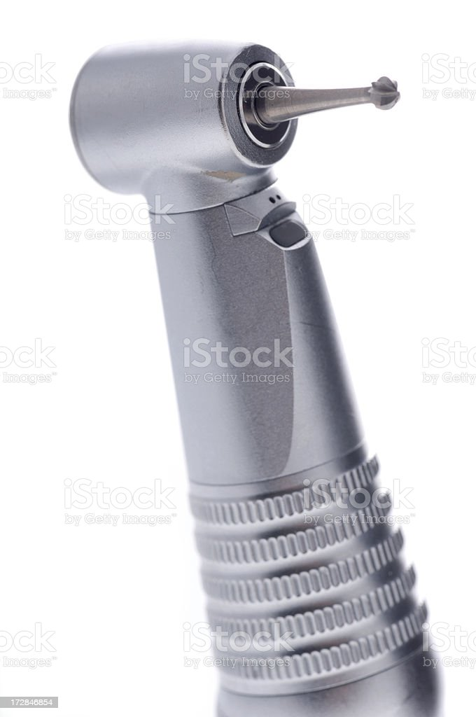 dental drill isolated on white royalty-free stock photo