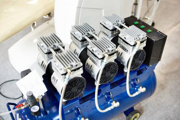Dental equipment compressor stock photo
