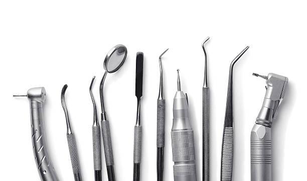 zahnarztausrüstung - zahnarztausrüstung stock-fotos und bilder