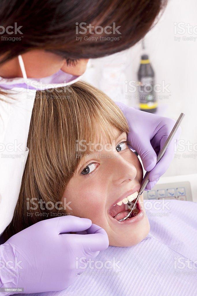 Dental exam royalty-free stock photo