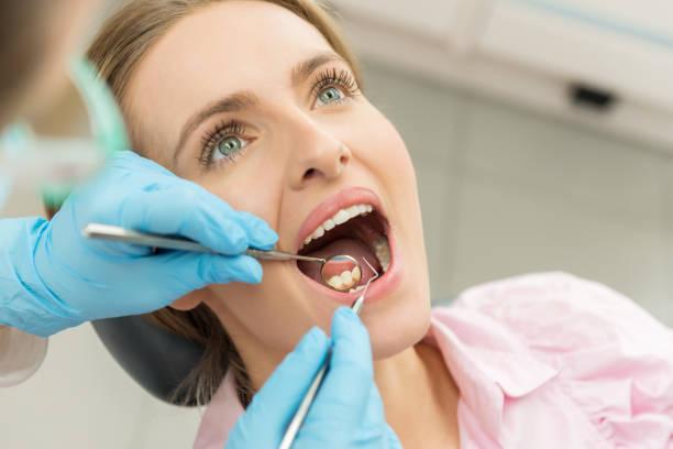 Dental examination stock photo