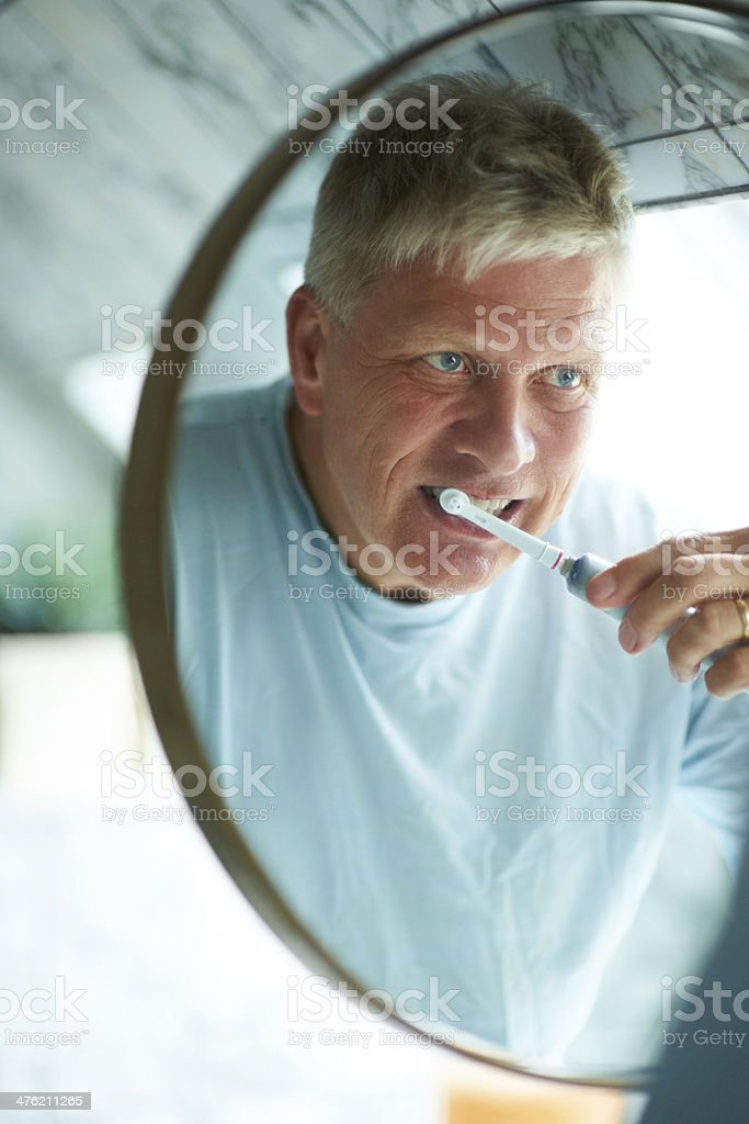 Dental health requires a certain routine royalty-free stock photo