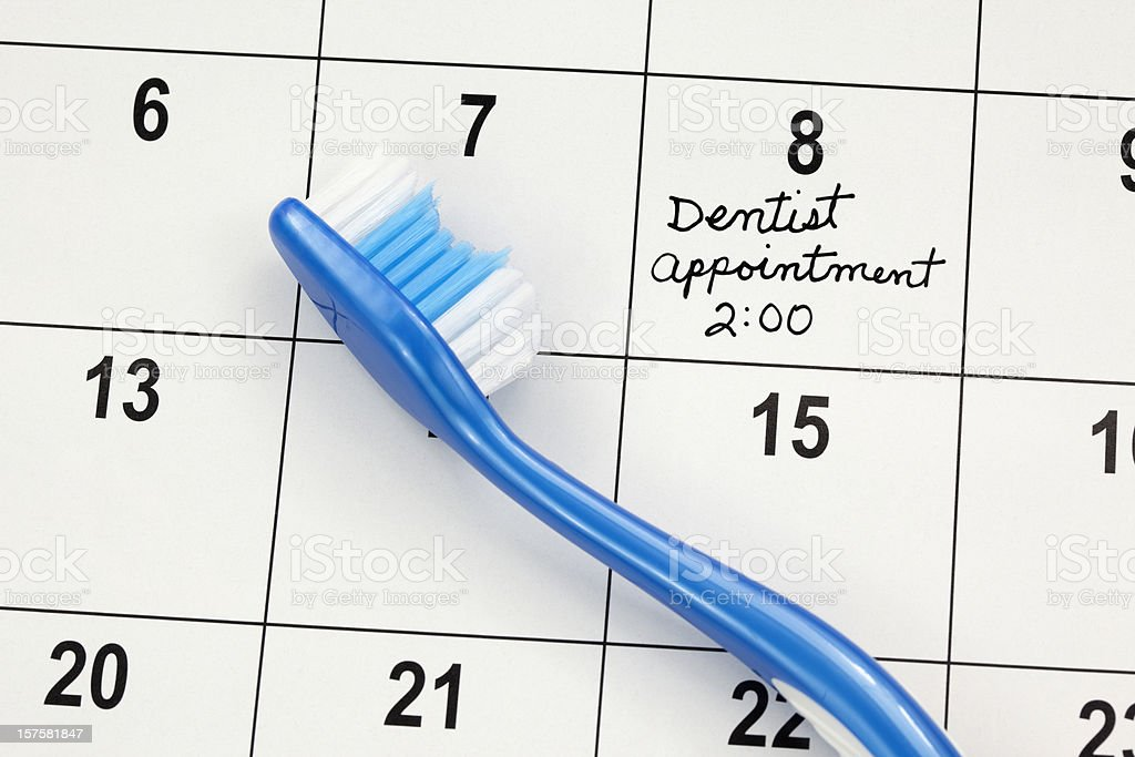 Dental Hygiene Appointment royalty-free stock photo