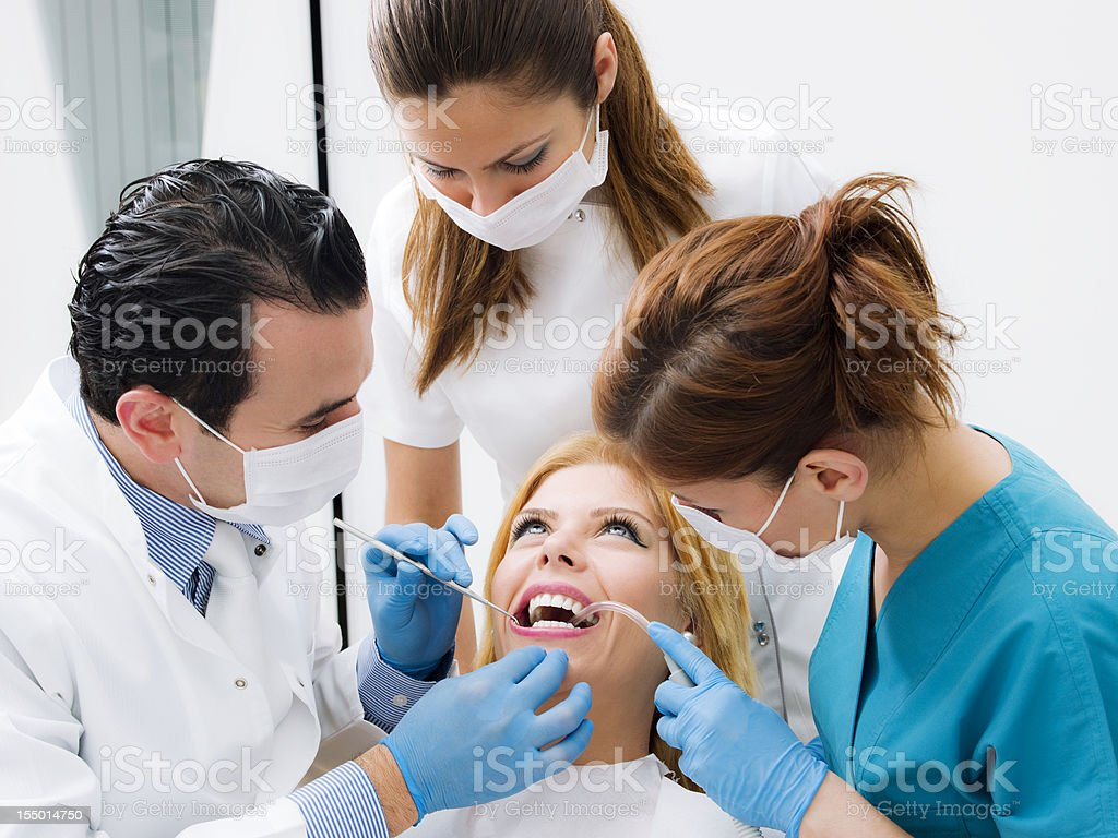 Dental inspection royalty-free stock photo