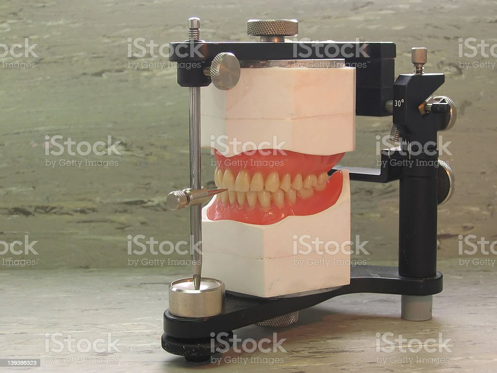 Dental Lab Articulator stock photo