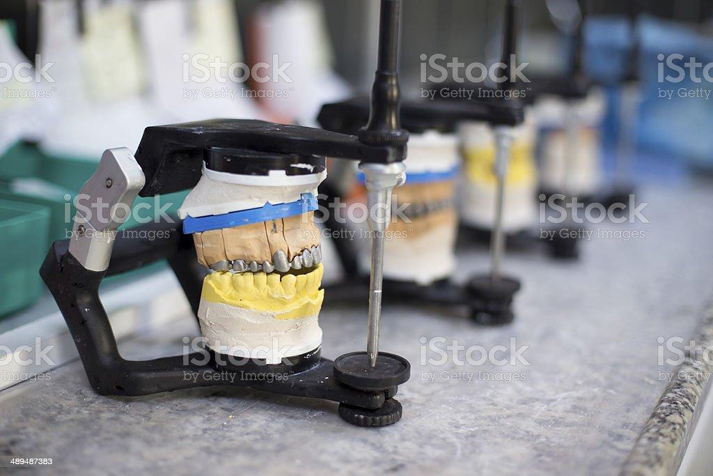 Dental lab articulators stock photo