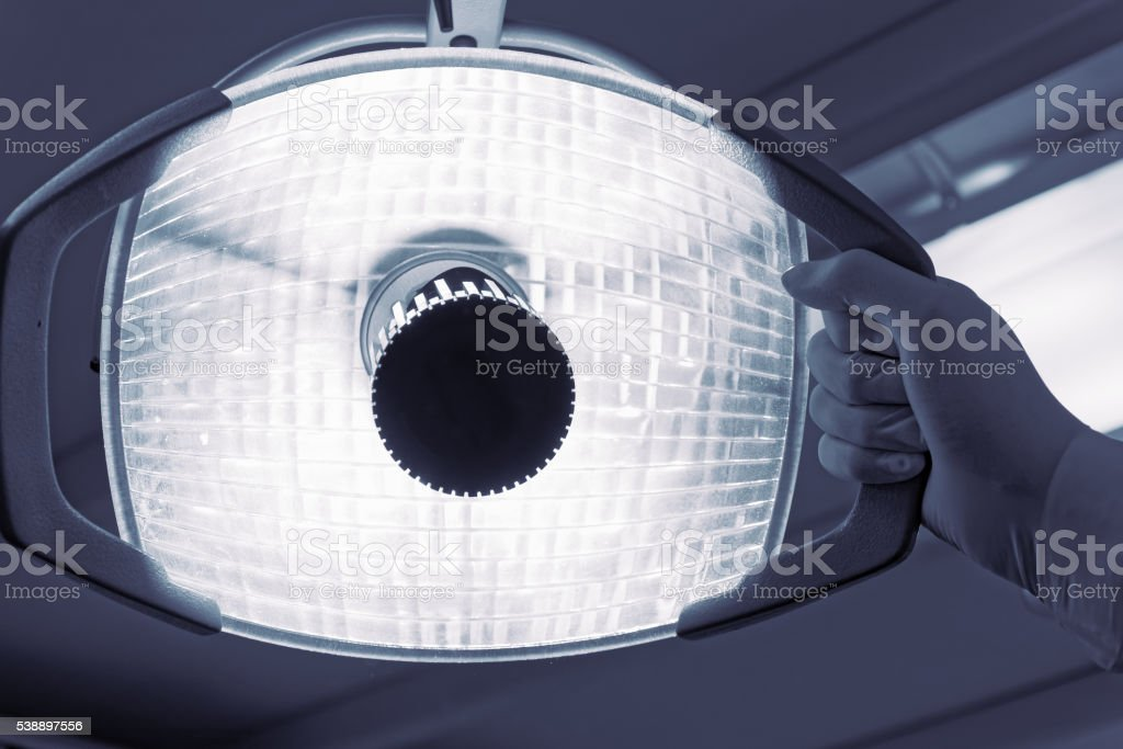 Dental lamp in hospital stock photo