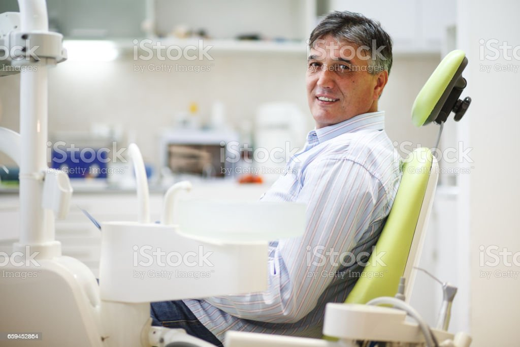 Dental paciente - foto de stock