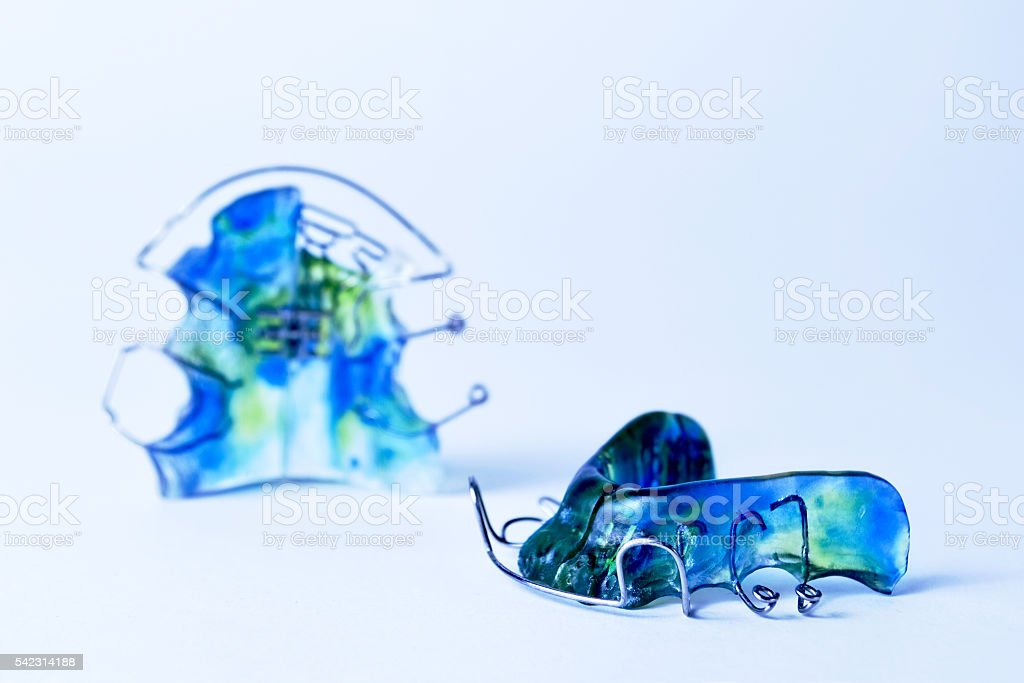 Dental retainer stock photo