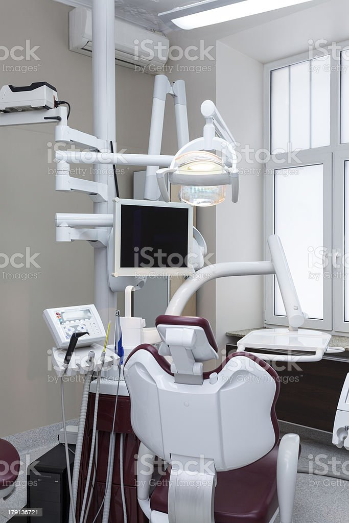 Dental seat royalty-free stock photo