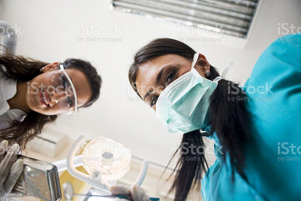 Dental teamwork royalty-free stock photo
