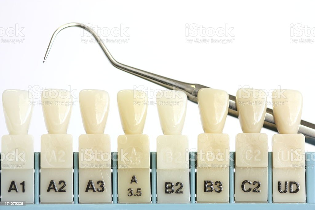 Dental Tooth Color Sample Stock Photo Amp More Pictures Of