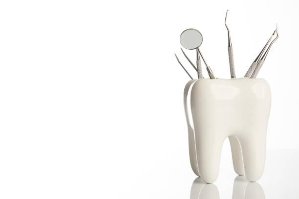 金屬醫用牙科器械牙牙模型圖像檔