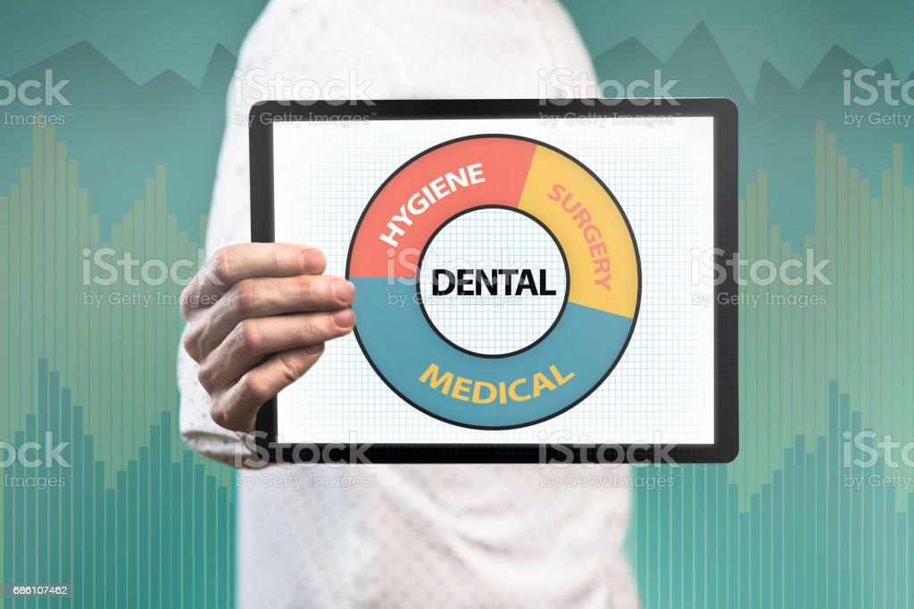 Dental / Touch screen concept (Click for more) stock photo