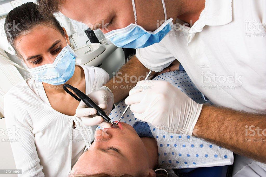 Dental treatment royalty-free stock photo