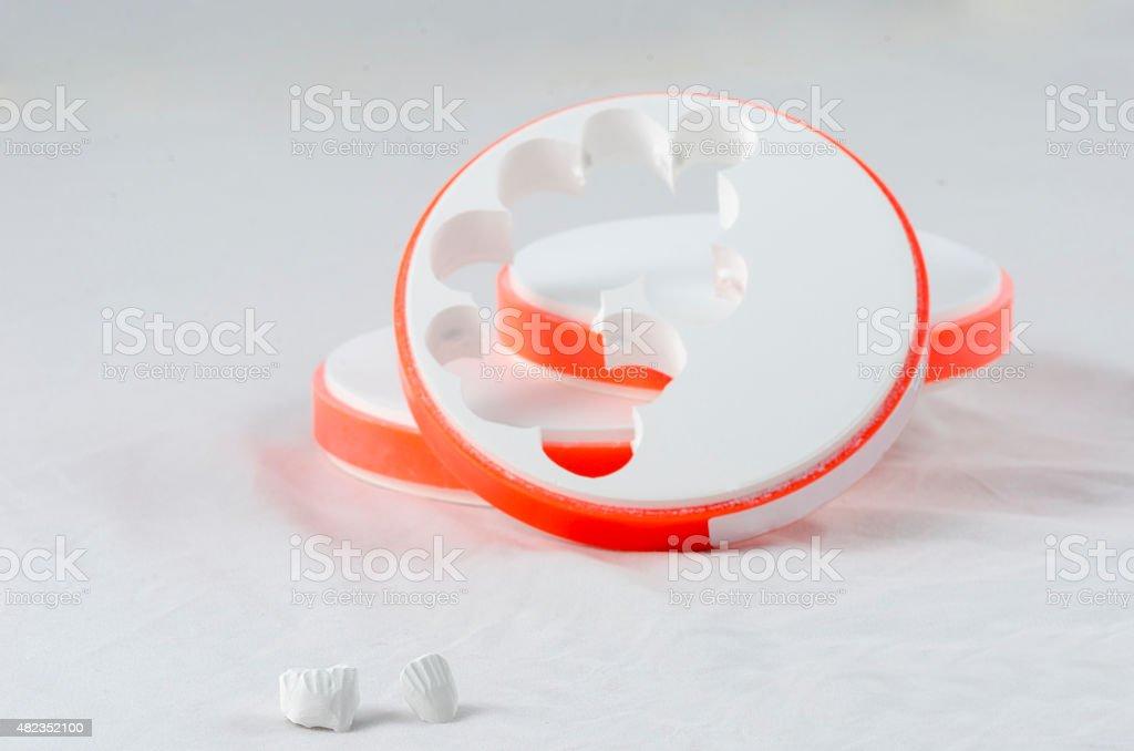 Dental Zirconia Disc stock photo