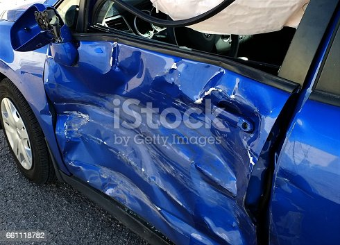istock Dented Car Door after an Accident 661118782