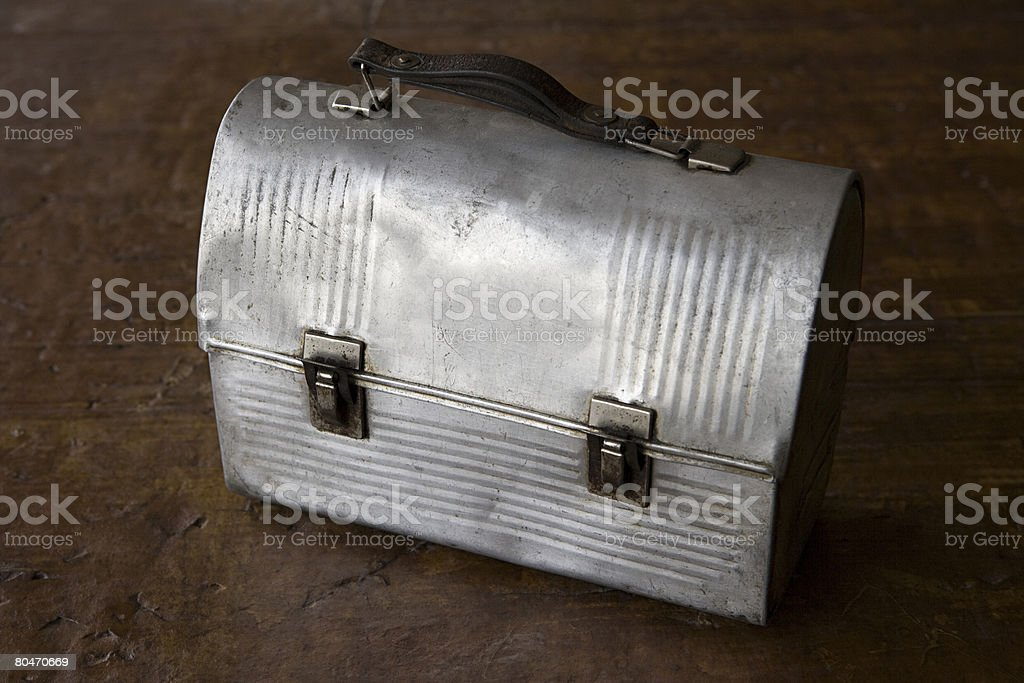 Dented metal toolbox royalty-free 스톡 사진