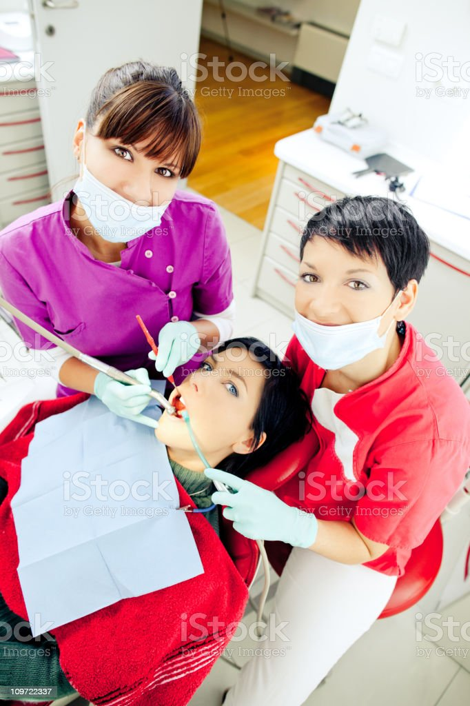 Dentis at work royalty-free stock photo