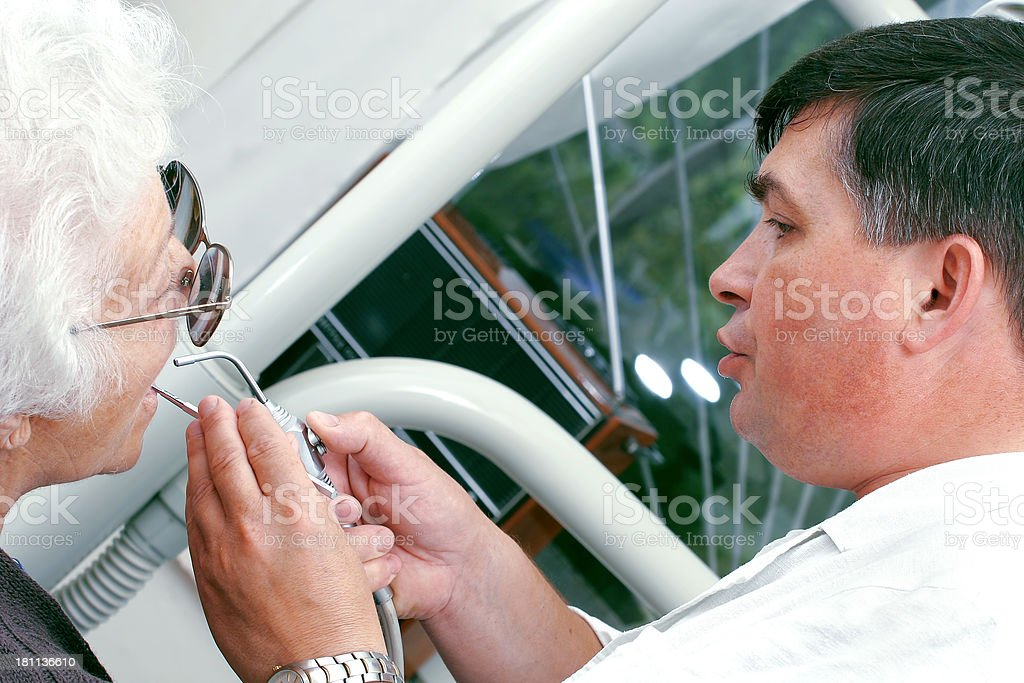 Dentist at work royalty-free stock photo