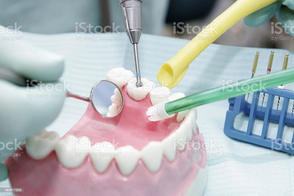 Dentist Drilling royalty-free stock photo