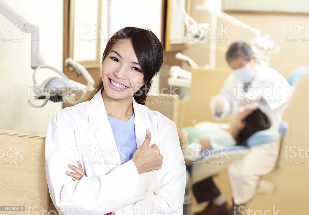 Dentist examination patient stock photo