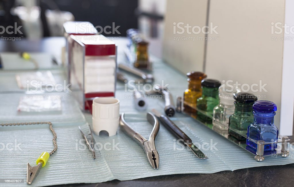 Dentist Hand Tools royalty-free stock photo