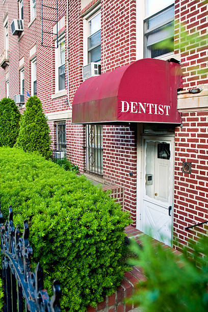 Dentist office entrance stock photo