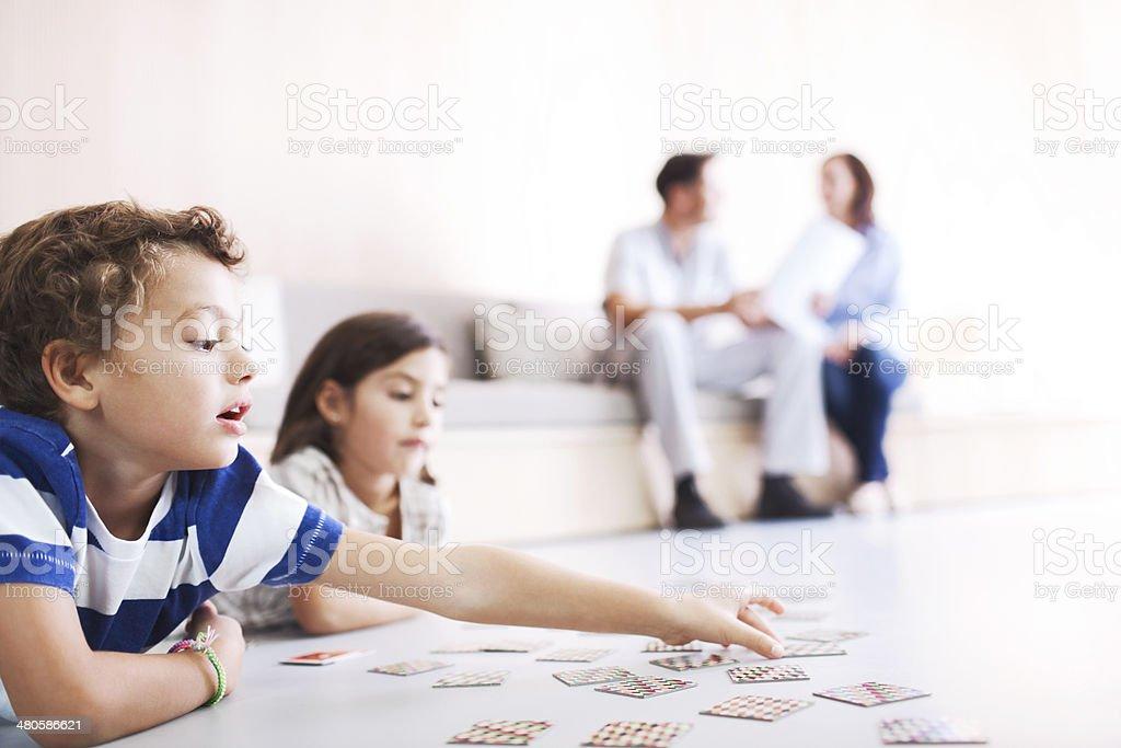 Zahnarzt Büro.  Spielen im Wartezimmer. - Lizenzfrei Arzt Stock-Foto