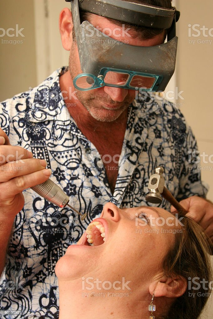 Dentist, or is he? royalty-free stock photo