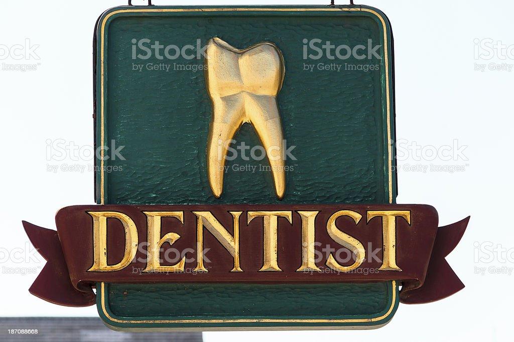 Dentist Sign royalty-free stock photo
