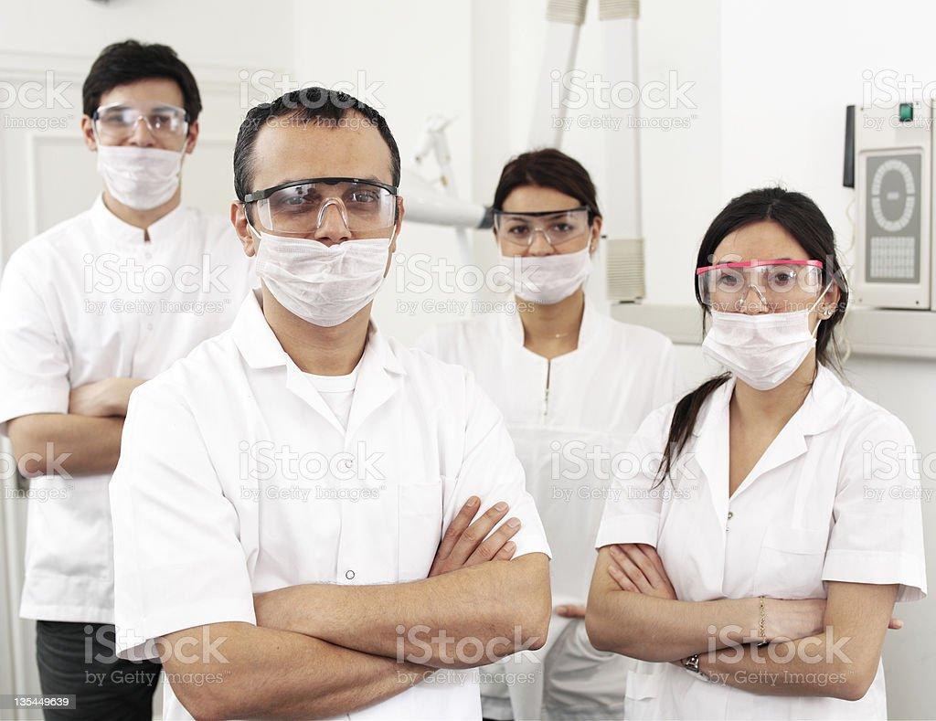 Dentist Team royalty-free stock photo