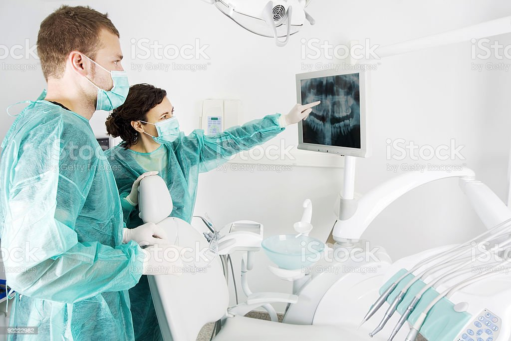 Dentist team stock photo