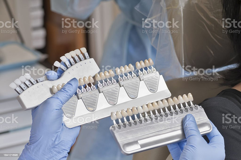 Dentist Tools - Mirror and Teeth Shades stock photo