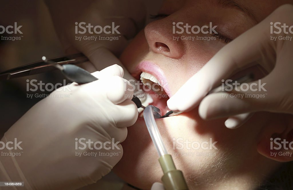Dentist Visit royalty-free stock photo