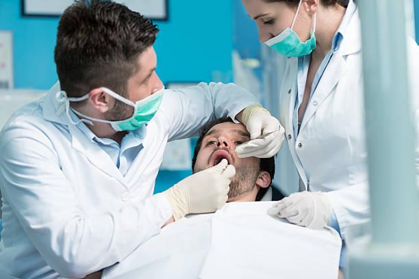 Dentistry education. stock photo