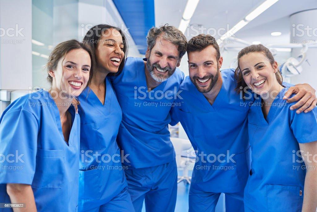 Zahnarztpraxis in Barcelona. Medizinisches Personal Porträt. Lizenzfreies stock-foto