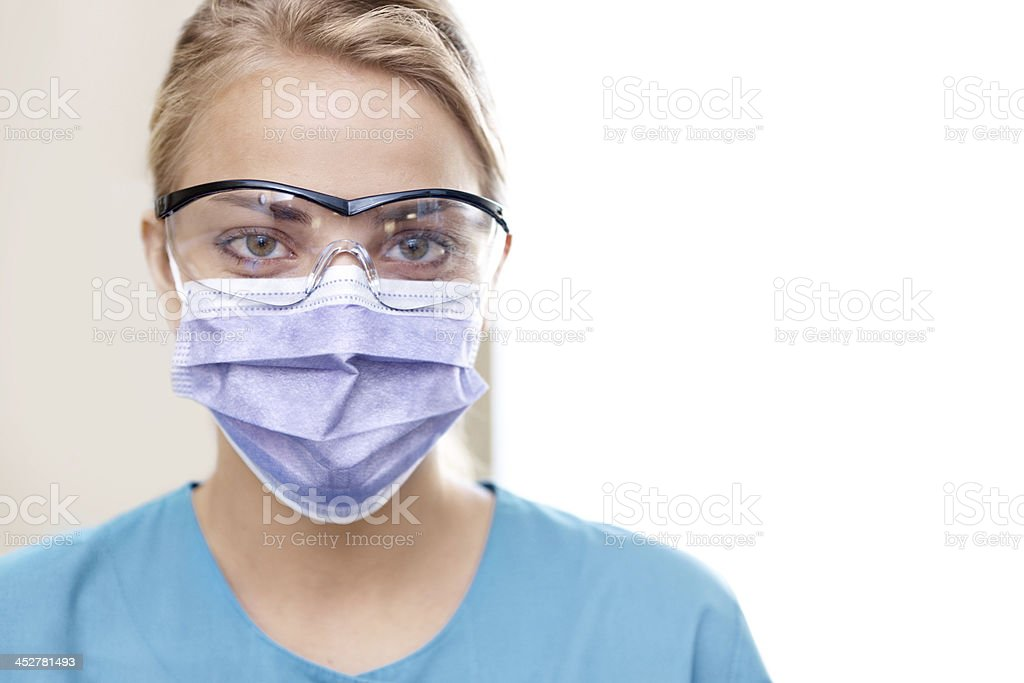 Dentist's work uniform royalty-free stock photo