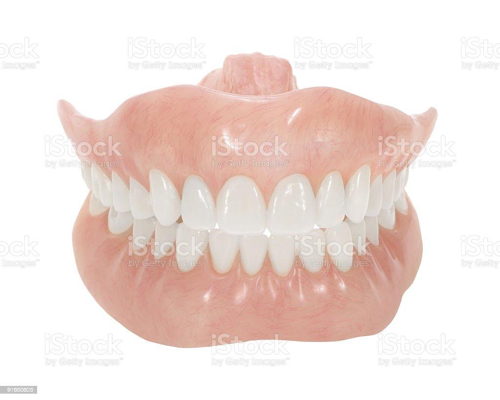 Dentures stock photo