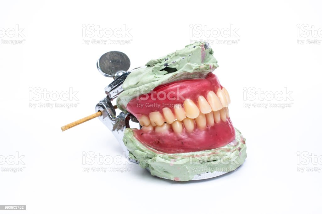 Dentures Set Concept Artificial Teeth Dental Prosthesis