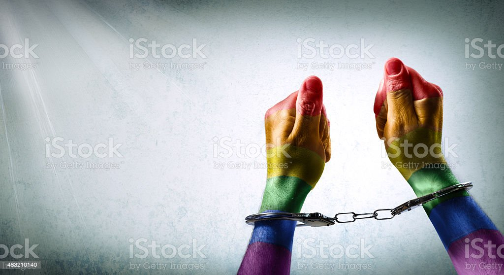 denunciation of the criminalization of homosexuality stock photo