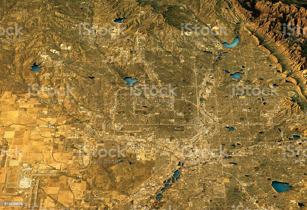 Denver 3D Landscape View North-South Natural Color圖像檔