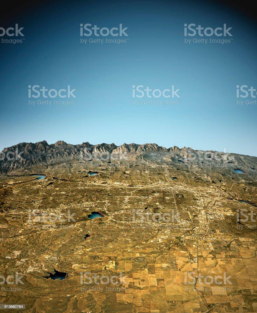 Denver 3D View East-West Natural Color stock photo