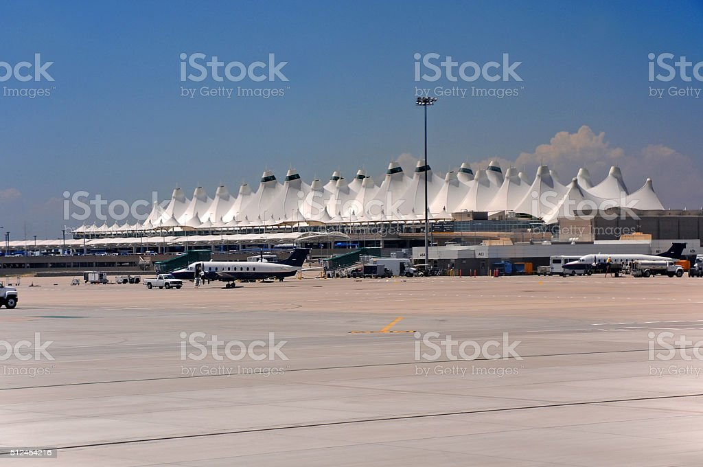 Denver airport stock photo