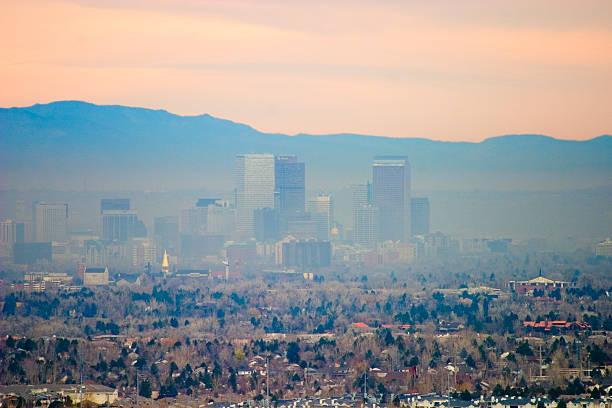 Denver Brown Cloud stock photo