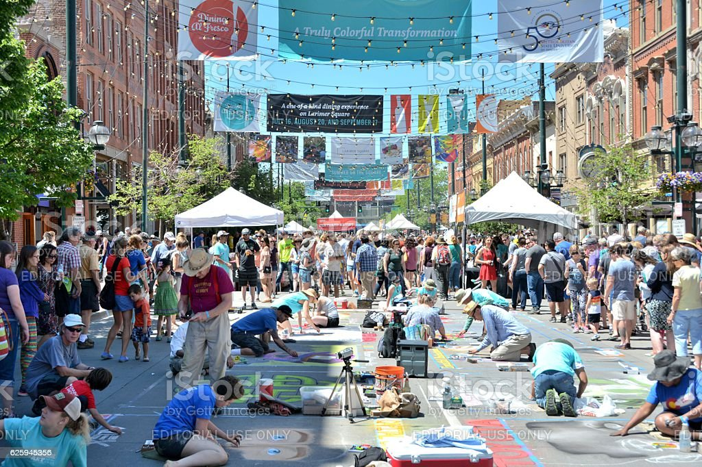 2016 Denver Chalk Art Festival stock photo