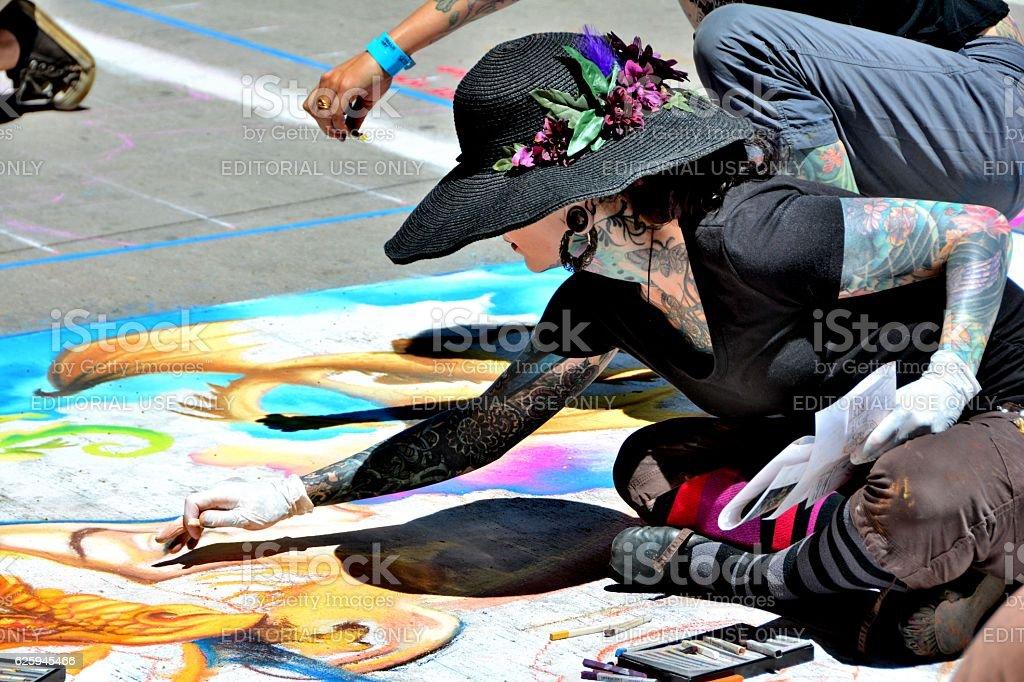 2016 Denver Chalk Art Festival stock photo