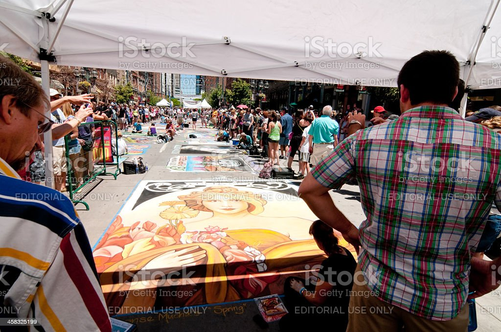 Denver Chalk Festival royalty-free stock photo