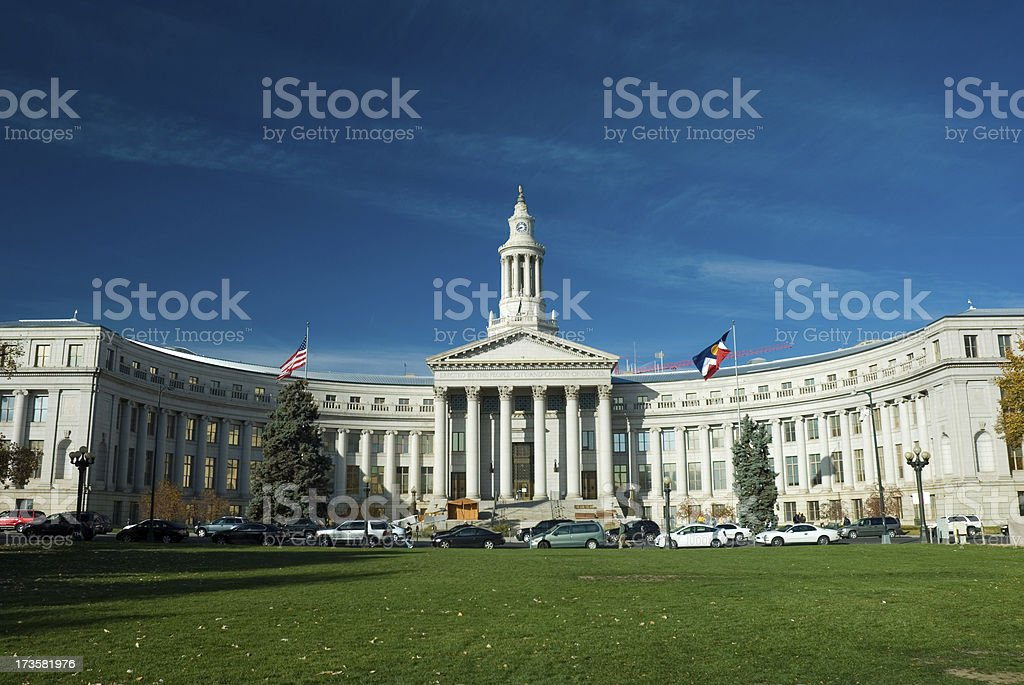 Denver City and County Building royalty-free stock photo